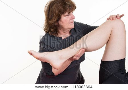 Picture Of A Physio Therapist Giving A Knee Massage