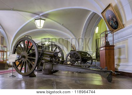 Interior Of One Of The Halls Of The Museum Of Artillery