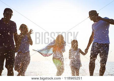 Happy Friends ?elebration Beach Party Summer