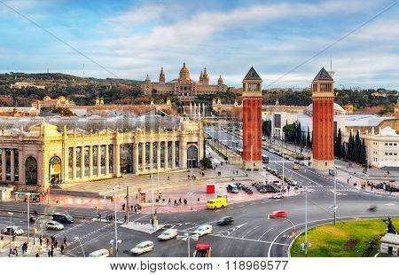 Barcelona - Placa De Espanya, Spain