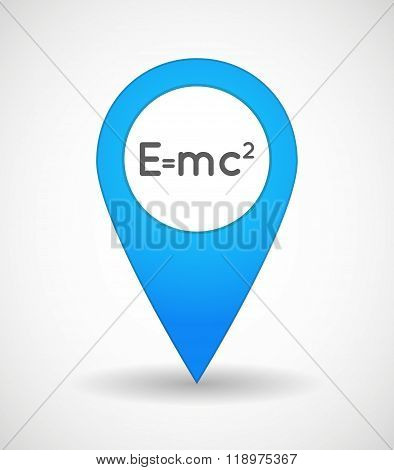 Map Mark Icon With The Theory Of Relativity Formula