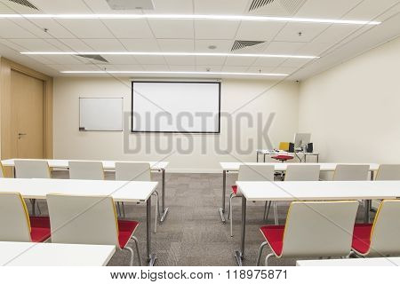 Empty Classroom For Trainings