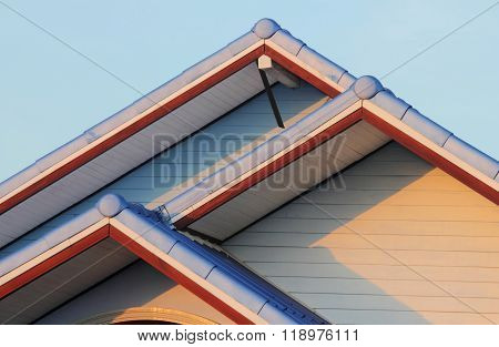 Gable of house