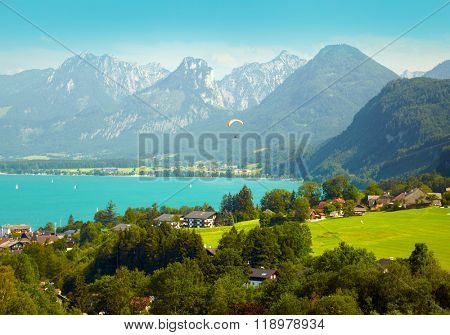 Village in the European Alps. Austria