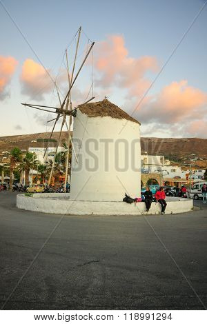 Windmill In Paros