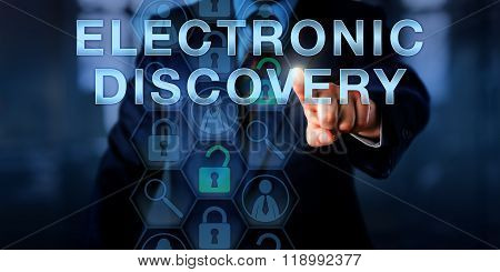 Forensic Examiner Pressing Electronic Discovery