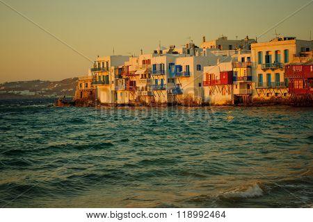 Sunset Scene Of The Village, Mykonos