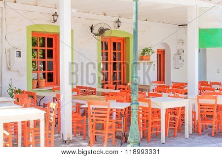 Restaurants And Cafe, In Naousa, Paros