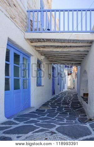 Typical Street In Naousa,paros