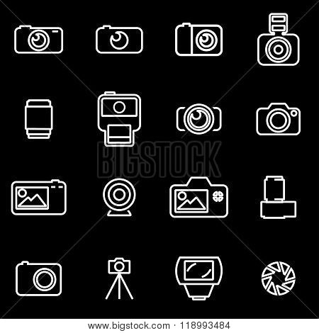 Vector line photo icon set