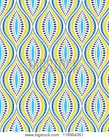 Blue and Yellow Decorative Pattern