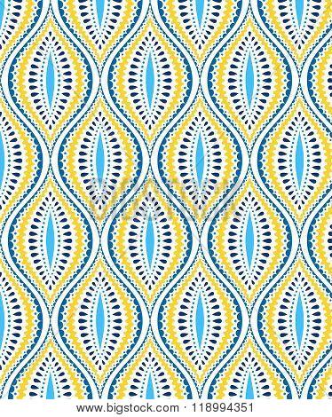 Blue and Yellow Decorative Pattern
