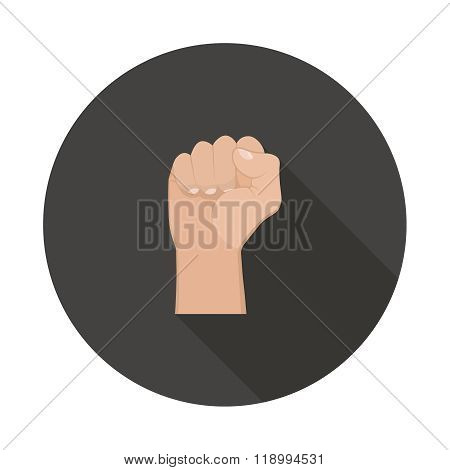 Realistic Hand With Clenched Fist Icon