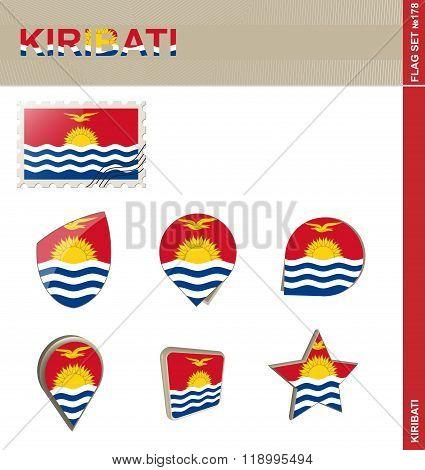 Kiribati Flag Set, Flag Set