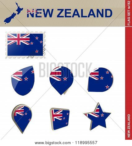 New Zealand Flag Set, Flag Set