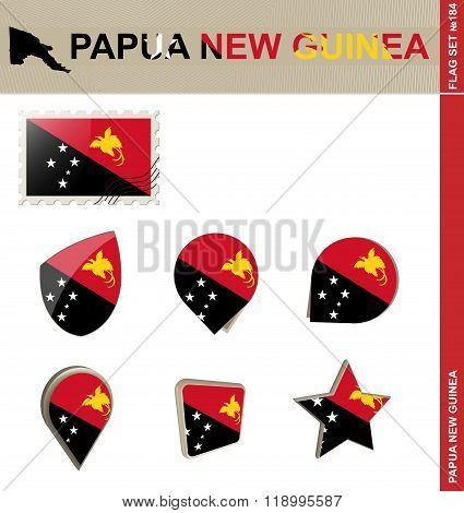 Papua New Guinea Flag Set, Flag Set