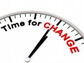 picture of evolve  - Time for Change as motivation on a Clock - JPG