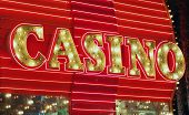 picture of keno  - Red neon casino sign - JPG