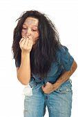 Постер, плакат: Грязные девушки дым окурок