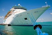 picture of cruise ship  - cruise ship docked at key west florida - JPG