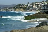 stock photo of beach-house  - a view of laguna beach  - JPG