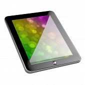 image of tablet pc computer  - 3d render of pc tablet with clipping path on white background - JPG