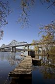 stock photo of winona  - Chippewa Valley Miinnesota Wisconsin Mississippi River Winona - JPG