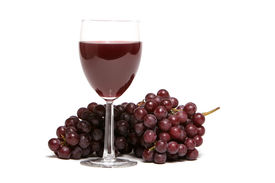 pic of wine grapes  - Red grapes and a glass of red wine - JPG