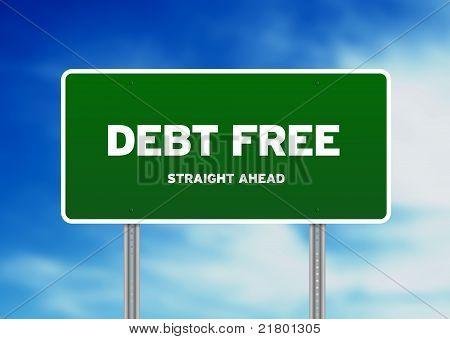 Debt Free Highway Sign