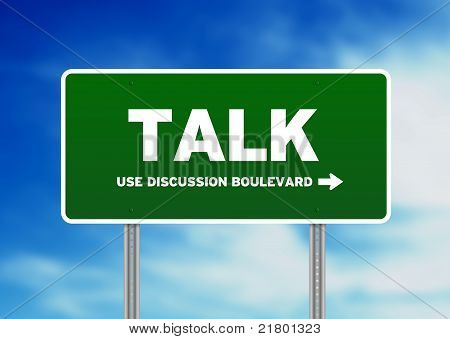 Talk Highway Sign