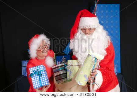 Santa Claus And Woman