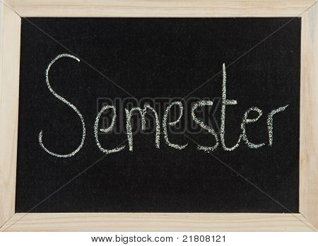 Board With Semester
