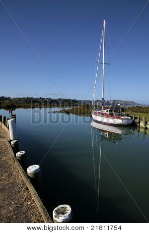 Yacht In The Harbor Of Coromandel