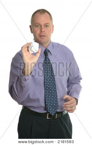 Throwing A Paper Ball.