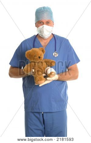 Surgeon With Teddy Bear.