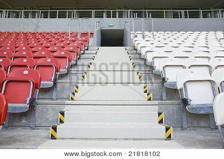 Estádio vazio - saída