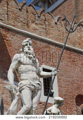 Venice Italy Statue Of Neptune