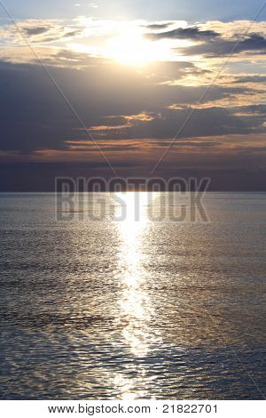 Sea At Evening In Summer