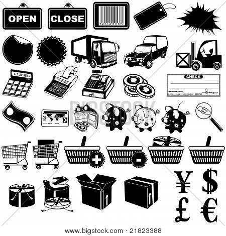 Shop Pictogram Icons