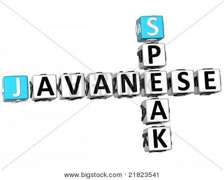 3D Speak Javanese Crossword