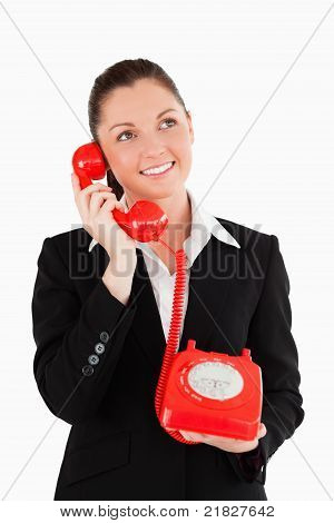 Gorgeous Woman In On The Phone
