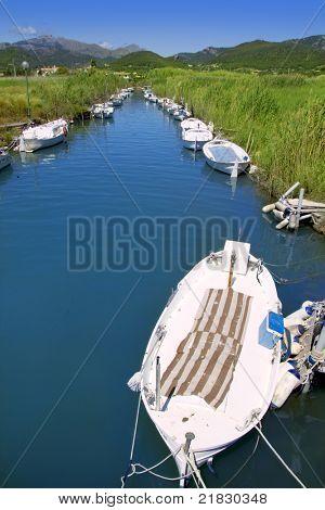 Andratx port marina in Majorca balearic islands Torrent des Salvel Llaut boats