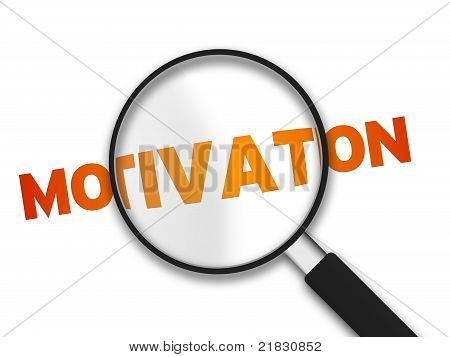 Magnifying Glass And Word Motivation