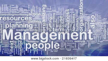 Background concept wordcloud illustration of management international