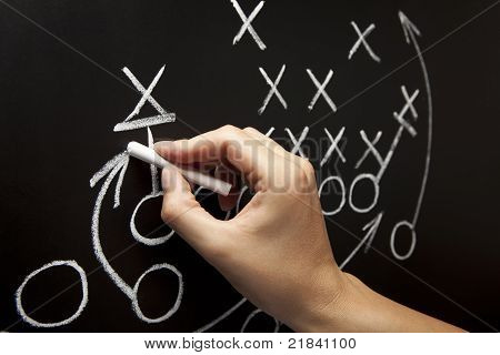 Man Drawing A Game Strategy