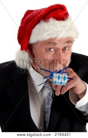 Business Santa And Noisemaker
