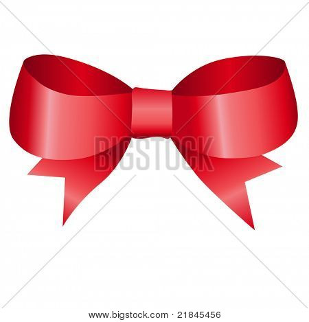 vector satin ribbon tied in a bow