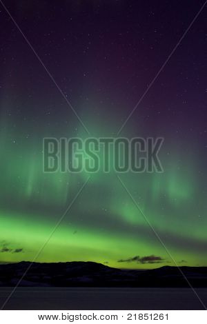 Colorful northern lights (aurora borealis)