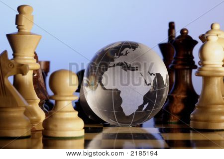 Globe On Chess Board
