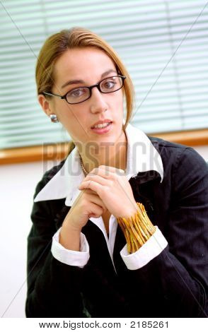Confident Woman In An Office